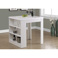 """Dining Room Table Sets - 30"""" White Particle Board, Hollow Core, and MDF Counter Height Dining Table"""