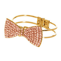 Rhinestone Bow Cuff | Shop Accessories at Wet Seal