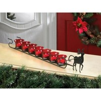 Christmas Reindeer Sleigh Votive Candle Holder