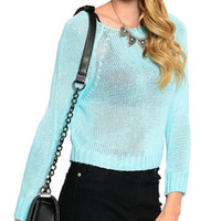 Kandi Oversized Sheer Knitted Sweater