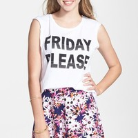 Project Social T 'Friday Please' Muscle Tee (Juniors)