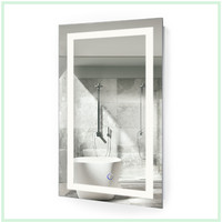 "LED Vanity Mirror 18""x30"" Bathroom Lighted Mirror With Dimmer & Defogger"