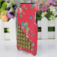 Antique bronze Studs And Hard Case Cover for Apple Ipod Touch 4, iPod Touch 4th,iTouch 4,iPod Touch 4gen Hard Case Cover