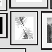 Palm Tree Wall Art #2, Tropical Monochromatic Art, Minimalist Prints, For The Home