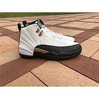 Air Jordan 12 ¡°Chinese New Year¡± while black Basketball Shoes 36-47