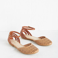 Boho Count the Ways Flat in Tan by ModCloth