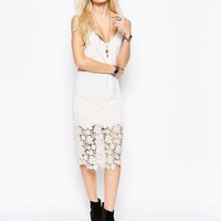 Free People   Free People True Slinky Lace Body-Conscious Dress at ASOS