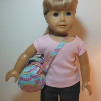 18 inch Doll Clothes Fits American Girl - Red Quilted Duffel Bag