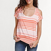 Lilu Half Sleeve Cold Shoulder Tee at PacSun.com