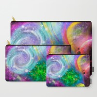 Rainbow space Carry-All Pouch by Haroulita | Society6