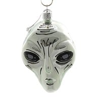 Holiday Ornaments ALIEN HEAD Glass Outer Space Life Go2504 C