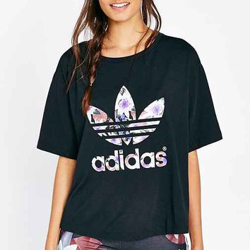 adidas Originals Lotus Print Top- Multi