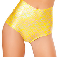 Lemon Scale High-Waist Mermaid Short