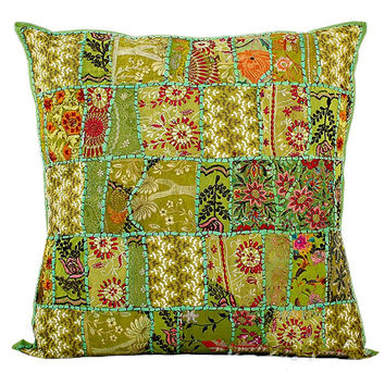 """Green 24x24"""" XL Decorative throw Pillows for couch, bed pillows, meditation pillows, seating cushions, chair cushions, outdoor toss pillows"""