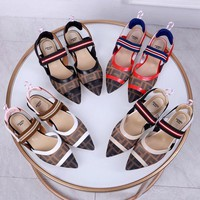 FENDI Women Fashion Diamonds Sandals High Heels Shoes top quality