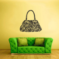 Wall Vinyl Sticker Decals Decor Art Bedroom Design Mural Fashion Modern Model Bag Menhdi Curly (z1912)
