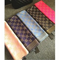 GUCCI Trending Women Men Personality Silk Scarf Cape Scarf Scarves Shawl(8-Color) I