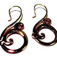Gold Toned Spiral Earrings