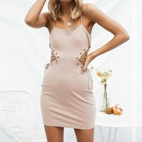 Slim Sexy Sling Package Hip Backless Dress
