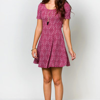 Genevive Jacquard Dress