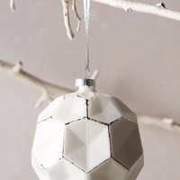 Glass Honeycomb Ornament by Anthropologie White One Size Hair