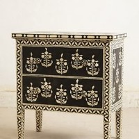 Paisley Inlay Dresser by Anthropologie Black & White One Size Furniture