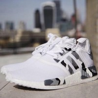 Tagre™ Adidas NMD Women Men Casual Running Sport Shoes Sneakers - Camouflage White