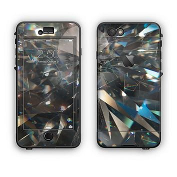 The Abstract Shattered Crystal Pattern Apple iPhone 6 Plus LifeProof Nuud Case Skin Set