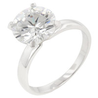 Timeless Solitaire Engagement Ring, size : 07