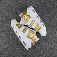 ONETOW Nike Air More Uptempo 96 White/Gold Size 40-47