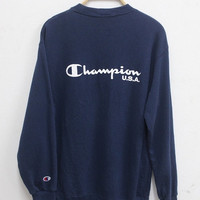 New Year Sale Champion Sweatshirt Sweater Vintage 90s Champion USA Big Logo sweater Streetwear Swag Hip Hop Pullover Sweater Champion shirt