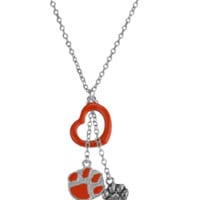 Clemson Tigers Pride Heart Necklace