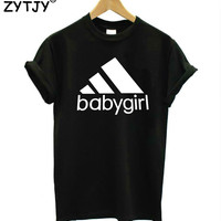 babygirl Letters Print Women T shirt Casual Cotton Hipster tshirts For Lady Funny Top Tee Drop Ship B-221