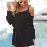 LOVE STITCH On The Lookout Romper - Black