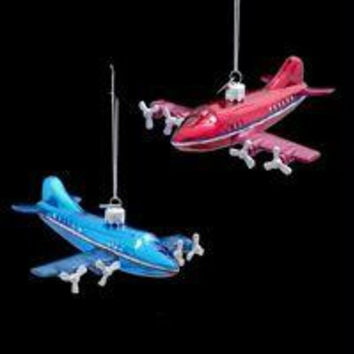 8 Christmas Ornaments - Airplanes