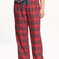 Old Navy Womens Plus Plaid Flannel PJ Pants