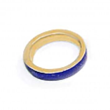Wide Lapis Lazuli and 18K Gold Cleo Band