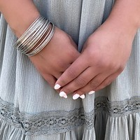 Party Up Silver Bangles