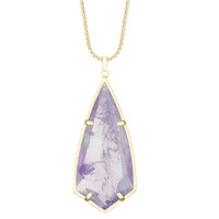 Kendra Scott Carole Necklace Pendant in Gold with Amethyst