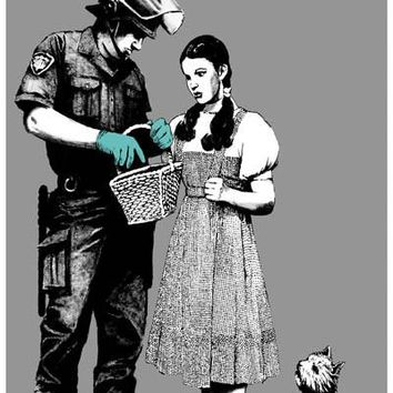 Banksy Wizard of Oz Stop and Search Poster 11x17