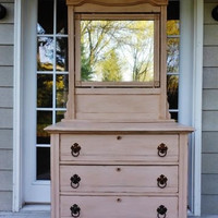 Oak Farmhouse Chest of Drawers Rustic