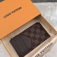 Kuyou Lv Louis Vuitton Gb19710 N64038 Damier Graphite Canvas Small Leather Goods Coffer Key & Card Holders Coin Card Holder  8.0 X 14.5 X 1.0 Cm
