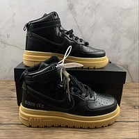 Morechoice Tuhy Nike Air Force 1 Gore Tex Boot Black Gum High Sneakers Velcro Casual Skaet Shoes CT2815-001