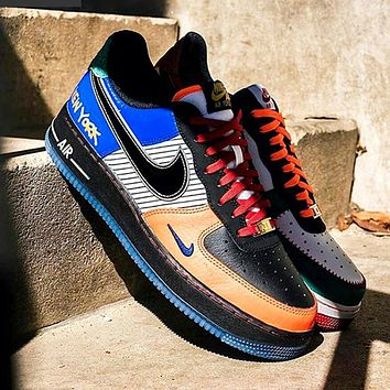 Nike Air Force 1 Low AF1 Colorblock Abrasion Sneakers Shoes