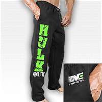 HulkOut-Feel the Rush-210 Sweatpants: Black : Monsta Clothing Co, Bodybuilding Clothing, Powerlifting Apparel, Weightlifting Shirts, Workout Clothes and MORE
