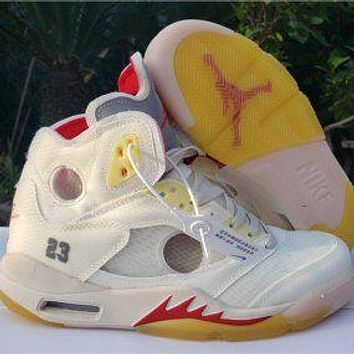 Bunchsun Air Jordan 5 AJ5 Platform High-Top Sneakers Shoes