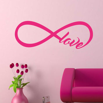 Love Infinity Knot Decal | Vinyl Wall Lettering | Wall Art