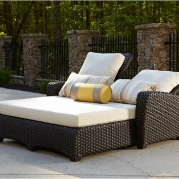 Anacara Carlysle All Weather Wicker Adjustable Double Chaise | www.hayneedle.com