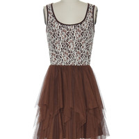 Ever After Dress in Chocolate
