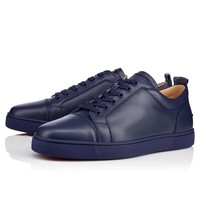 Christian Louboutin CL Louis Junior Men's Flat China Blue Leather 13s Sneakers Best Deal Online